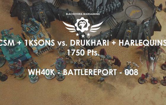 WH40K – Battlereport -008 Alpha Legion & Thousand Sons vs. Drukhari & Harlequins 1.750 pts. [DE/GER]