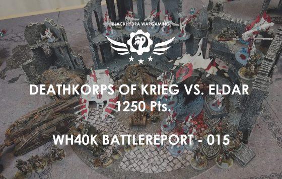 WH40K – Battlereport -015 Deathkorps of Krieg vs. Eldar 1.250 pts. [DE/GER]